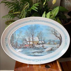 Vintage Brookpark large Melamine Platter